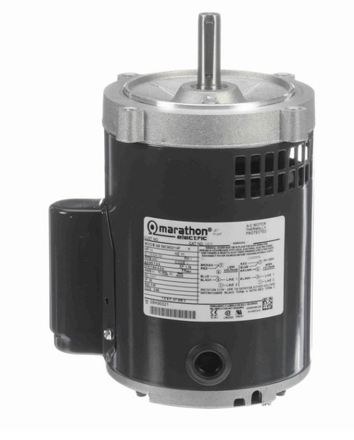 O210 Marathon 1/3 hp (1 speed) 115/208-230V 3600 RPM ODP 56C Frame Cap Start Oil Burner Motor