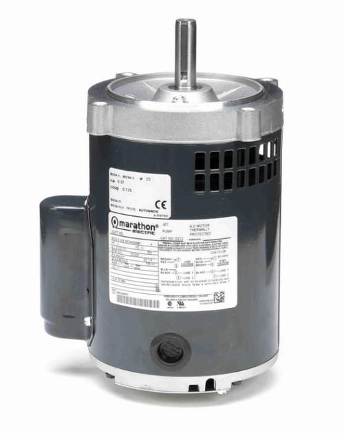 O212 Marathon 1/2 hp (1 speed) 115/208-230V 3600 RPM ODP 56C Frame Cap Start Oil Burner Motor