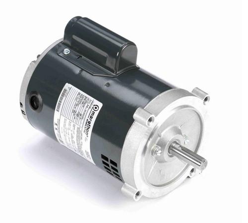 O214 Marathon 3/4 hp (1 speed) 115/208-230V 3600 RPM ODP 56C Frame Cap Start Oil Burner Motor