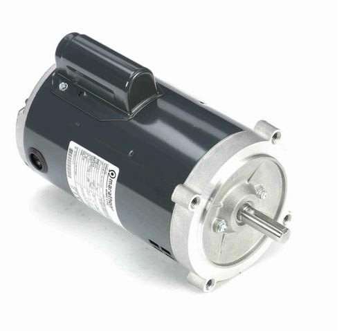 O217 Marathon 1 hp (1 speed) 115/208-230V 3600 RPM ODP 56C Frame Cap Start Oil Burner Motor