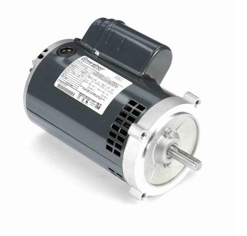 O231 Marathon 1 hp (1 speed) 115/208-230V 3600 RPM ODP 56C Frame Cap Start/Run Oil Burner Motor