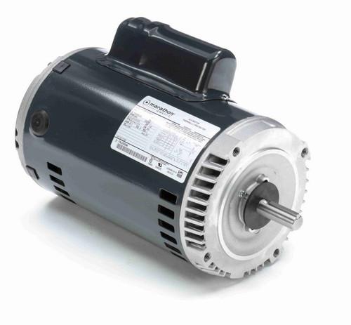 C338 Marathon 1 hp (1 speed) 115/208-230V 3600 RPM ODP 56C Frame Cap Start Oil Burner Motor