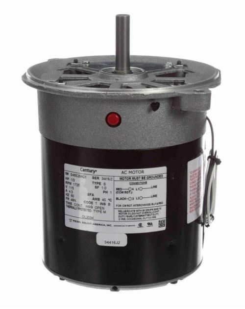 OL2034 Century 1/3 hp (sleeve bearing) 115V 1800 RPM Open 48N Frame Split Phase Oil Burner Motor
