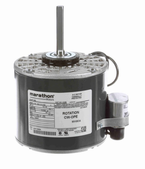 X268 Marathon 1/3 hp 208-230V 1625 RPM OPAO 48Y Frame PSC Commercial Refrigeration Motor