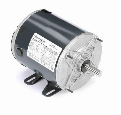 K1487 Marathon 1/3 hp (1 speed) 200-230/460V 1200 RPM TENV 56 Frame 3-Phase Rigid Base Motor