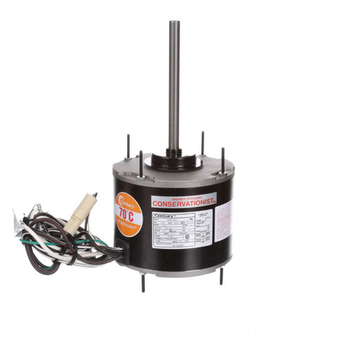 1/4 hp 1075 RPM, 1-Speed, 208-230V, 70°C Condenser Motor Century # FE1026SF