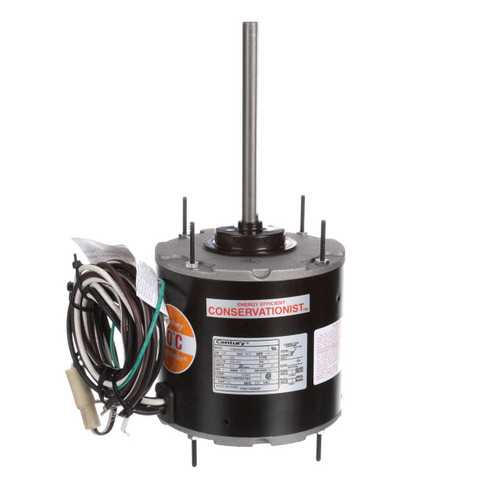 FSE1038SF Century 1/3 hp 825 RPM, 1-Speed, 208-230V, 70°C Condenser Motor