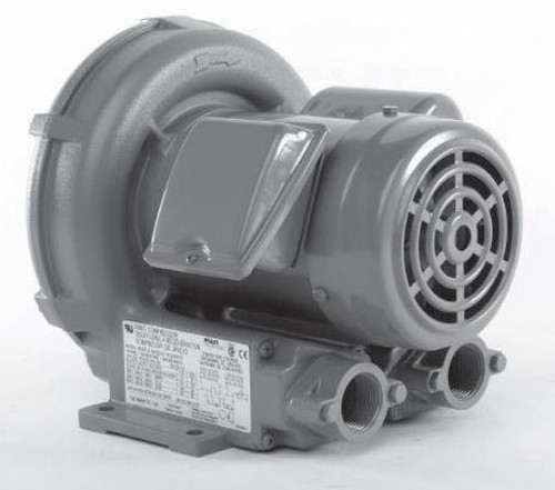 VFC200P-5T Fuji Regenerative Blower .37 hp, 3.6/1.8 amps, 115/230V