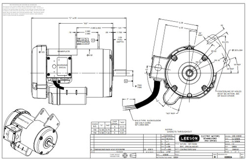 1.5 hp 3450 RPM Delta Unisaw Electric Motor 115/230 Volts