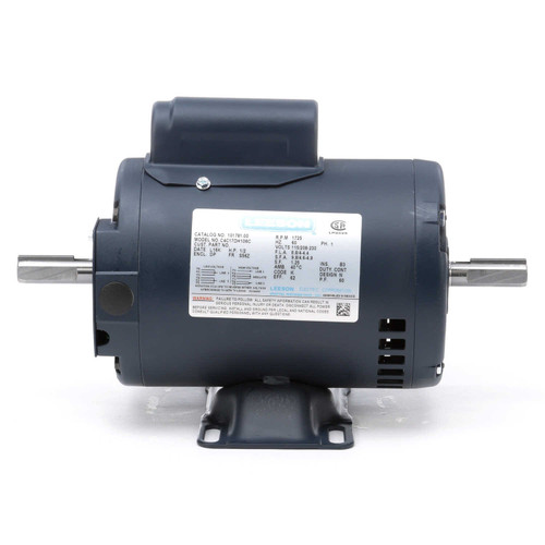 1/2 hp 1725 RPM 115/208-230V Double Shafted Power Tool Motor Leeson Electric Motor # 101781