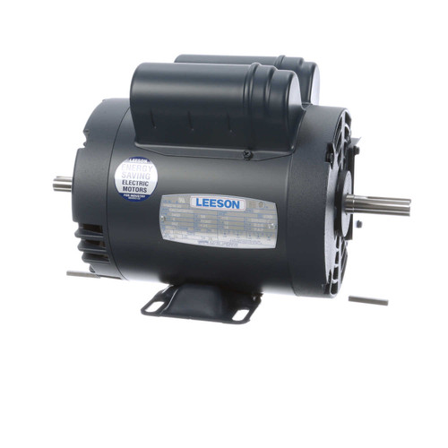 1 hp 3450 RPM 115/208-230V Double Shafted Power Tool Motor Leeson Electric Motor # 114216