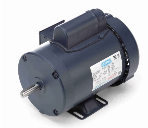 1 hp 3450 RPM 56 Frame TEFC 115/208-230V w/Overload Protection Leeson  Electric Motor # 110142