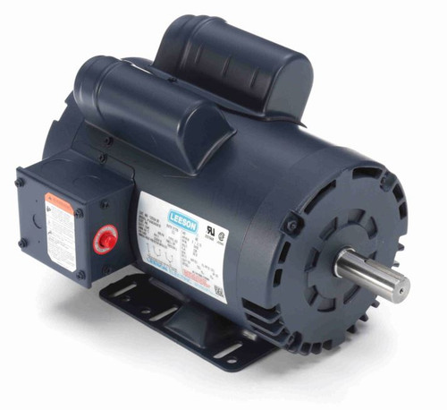 120554.00 Leeson |  5 hp 3450 RPM 145T 230V Air Compressor Motor
