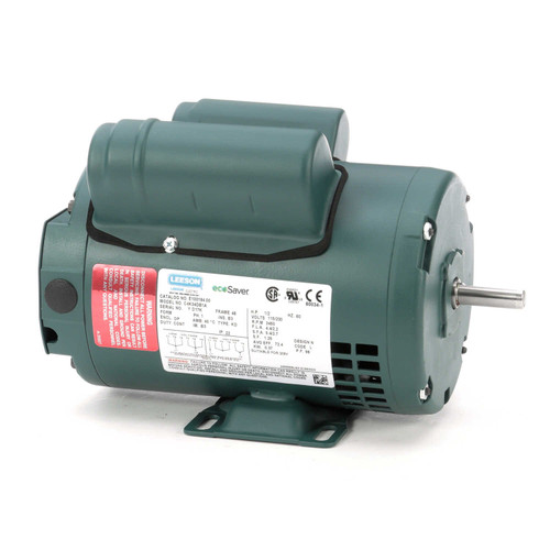 E100184.00 Leeson |  1/2 hp 3450 RPM 48 Frame 115/208-230 Volts Open Drip