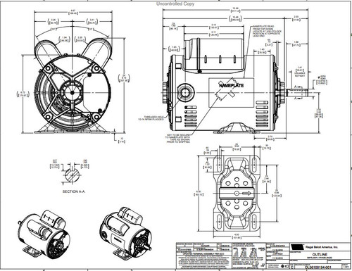 3  4 hp 1725 rpm 56 frame 115  208