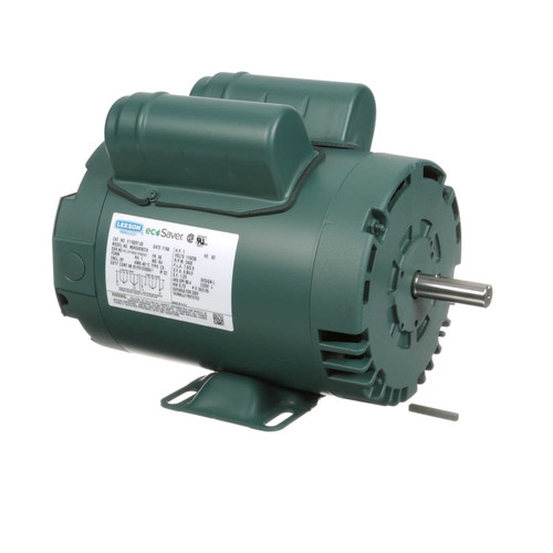 1 hp 3450 RPM 56 Frame 115/208-230V Open Drip Leeson Electric Motor # E110097