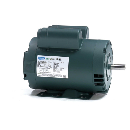 1 hp 1725 RPM 56 Frame 115/208-230V Open Drip Leeson Electric Motor # E110167
