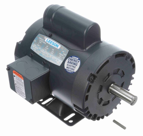 1 hp 1725 RPM 143T Frame 115/208-230V Open Drip Leeson Electric Motor # 120000