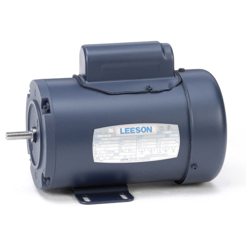 1/6 hp 1725 RPM 42 Frame TEFC 115/208-230V Leeson Electric Motor # 092116