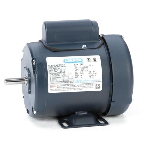 1/4 hp 1725 RPM 48 Frame TEFC 115/208-230V Leeson Electric Motor # 101446