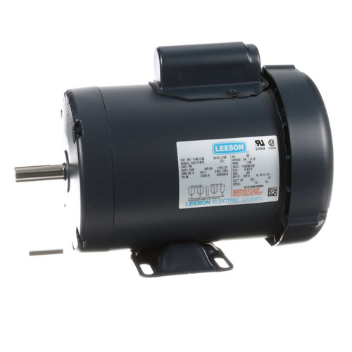 1/4 hp 1140 RPM 56 Frame TEFC 115/208-230V Leeson Electric Motor # 114617
