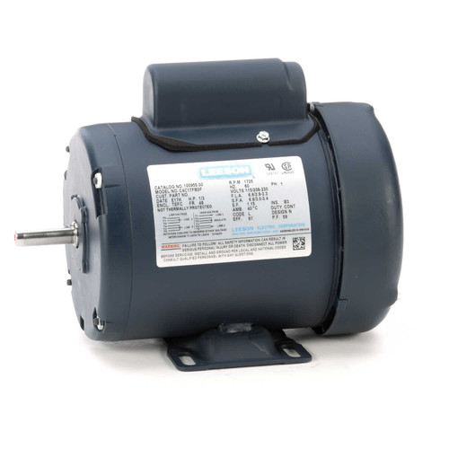 100955.00 Leeson |  1/3 hp 1725 RPM 48 Frame TEFC 115/208-230 Volts