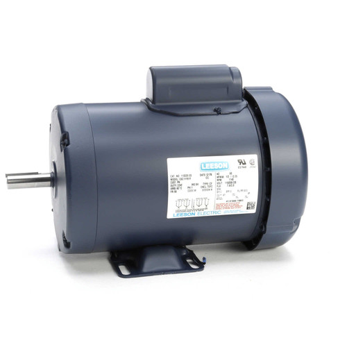 110009.00 Leeson |  1/3 hp 1140 RPM 56 Frame TEFC 115/208-230 Volts
