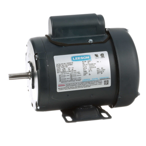 1/2 hp 3450 RPM 48 Frame TEFC 115/208-230V Leeson Electric Motor # 102020