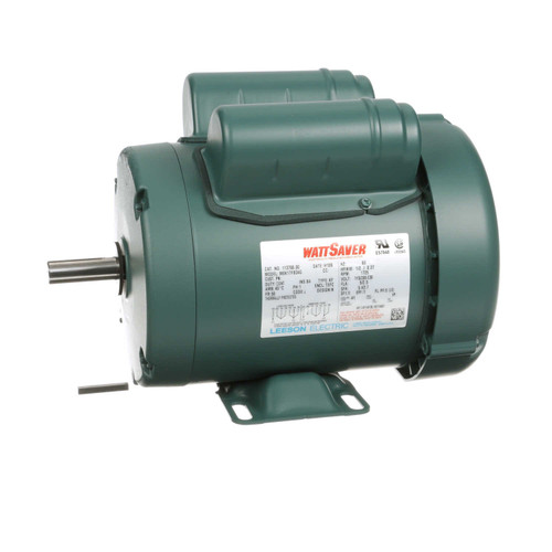 1/2 hp 1725 RPM 56 Frame TEFC 115/208-230V Leeson Electric Motor # 113766