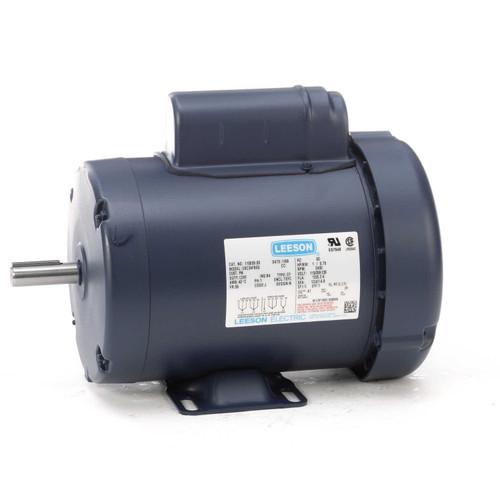 1 hp 3450 RPM 56 Frame TEFC 115/208-230V Leeson Electric Motor # 110059