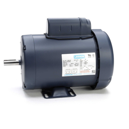 1.5 hp 3450 RPM 56 Frame TEFC 115/208-230V Leeson Electric Motor # 110094