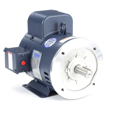 131629.00 Leeson |  3 hp 1800 RPM 184TC Frame ODP C-Face (rigid base) 115/230V
