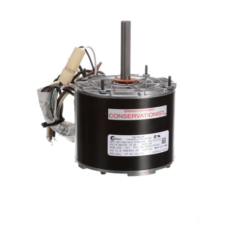 "Model 9722 Century Condenser Fan Motor 5"" Diameter Multifit 1/8, 1/10, 1/12 hp; 1075 RPM"