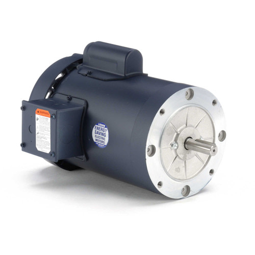 110411.00 Leeson |  1/2 hp 1200 RPM 56C Frame TEFC C-Face (no base) 115/208-230V