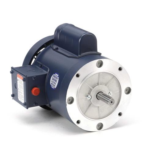 110040.00 Leeson |  3/4 hp 1800 RPM 56C Frame TEFC C-Face (no base) 115/208-230V