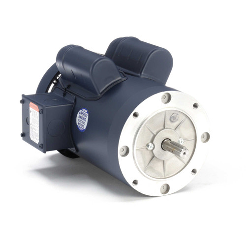 110414.00 Leeson |  3/4 hp 1200 RPM 56C Frame TEFC C-Face (no base) 115/208-230V