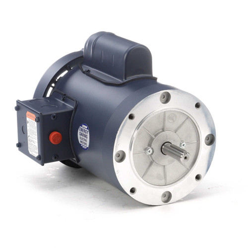 110418.00 Leeson |  1.5 hp 3600 RPM 56C Frame TEFC C-Face (no base) 115/208-230V