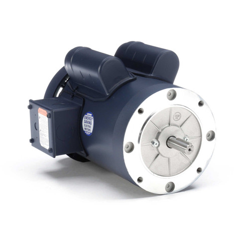 1.5 hp 1800 RPM 56C Frame TEFC C-Face (no base) 115/208-230V Leeson Electric Motor # 110420