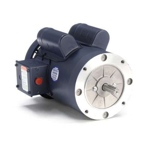 1.5 hp 1800 RPM 56C Frame TEFC C-Face (no base) 115/208-230V Leeson Electric Motor # 110042