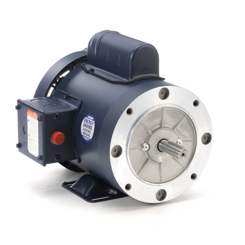 116922.00 Leeson |  3/4 hp 1800 RPM 56C Frame TEFC C-Face- Rigid Base 115/208-230V