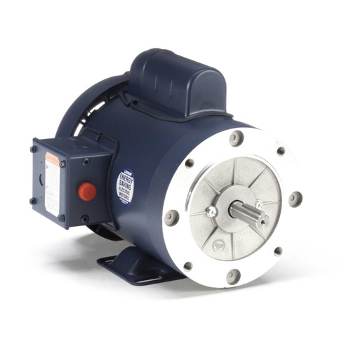 115877.00 Leeson |  1 hp 3600 RPM 56C Frame TEFC C-Face- Rigid Base 115/208-230V