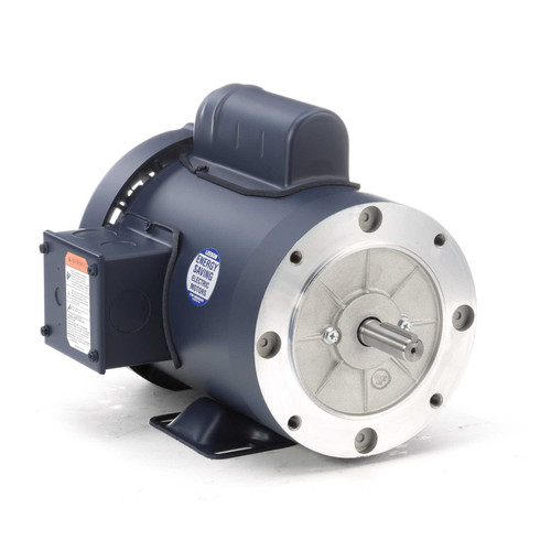1 hp 1800 RPM 143TC Frame TEFC C-Face- Rigid Base 115/208-230V Leeson Electric Motor # 121680
