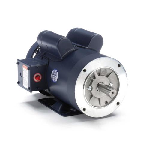 121465.00 Leeson |  2 hp 1800 RPM 145TC Frame TEFC C-Face- Rigid Base 115/208-230V