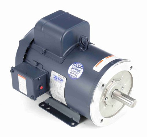 131857.00 Leeson |  3 hp 1800 RPM 184TC Frame TEFC C-Face- Rigid Base 230V