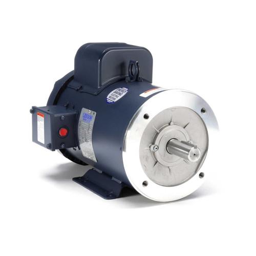131632.00 Leeson |  5 hp 3600 RPM 184TC Frame TEFC C-Face- Rigid Base 230V