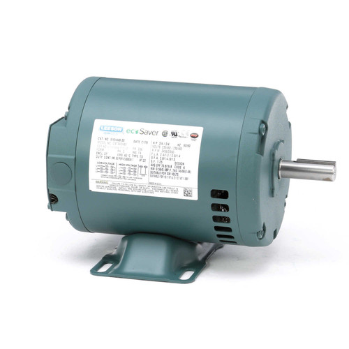 E101449.00 Leeson |  3/4 hp 3450 RPM 56 Frame 230/460 Volts Open Drip