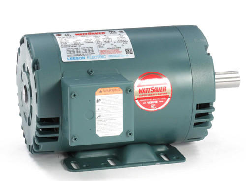 1 hp 1725 RPM 143T Frame 208-230/460V Open Drip Leeson Electric Motor # 121003