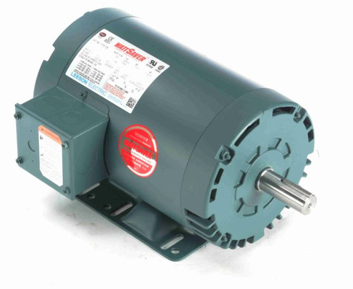 121517.00 Leeson |  1 hp 1140 RPM 145T Frame 208-230/460 Volts Open Drip