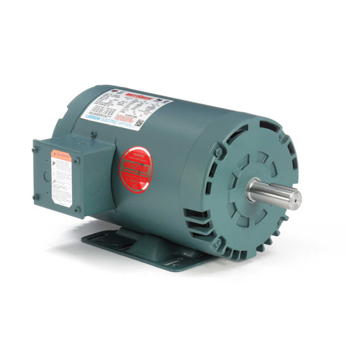 1.5 hp 1725 RPM 145T Frame 208-230/460V Open Drip Leeson Electric Motor # 121004