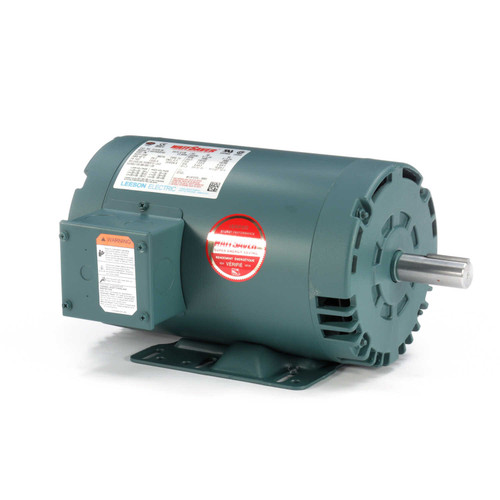 121516.00 Leeson |  3hp 3600 RPM 145T Frame 230/460 Volts Open Drip